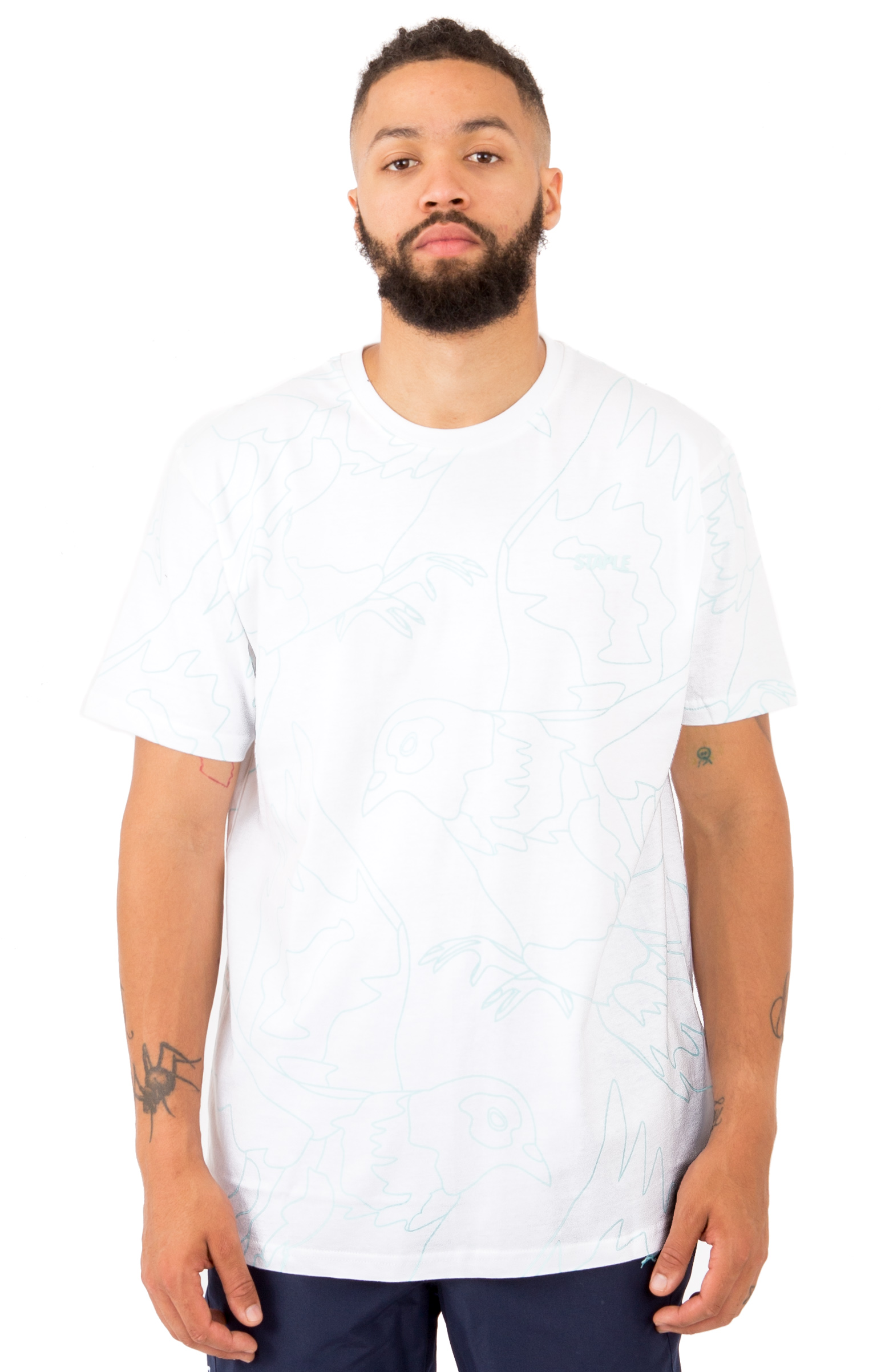 Staple, Allover Pigeon T-Shirt - White