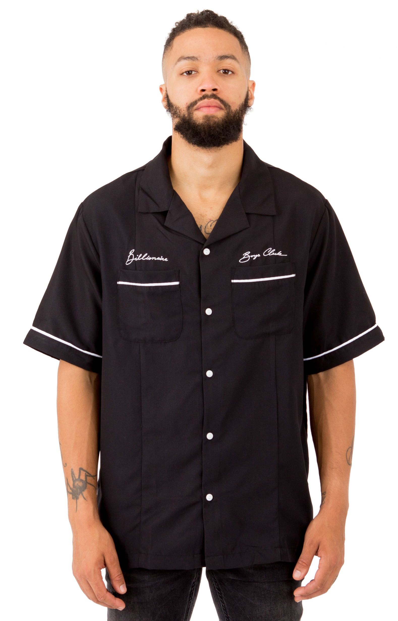 Billionaire Boys Club, Five Star Button-Up Shirt - Black