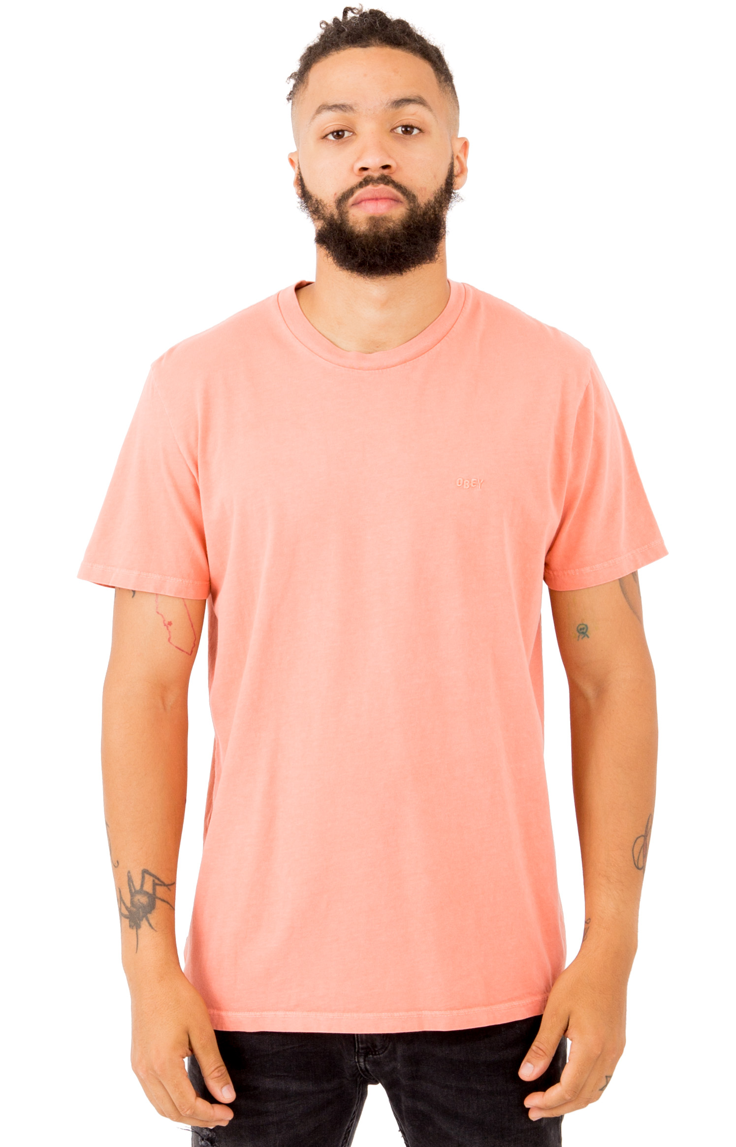 Jumbled Pigment T-Shirt - Dusty Coral