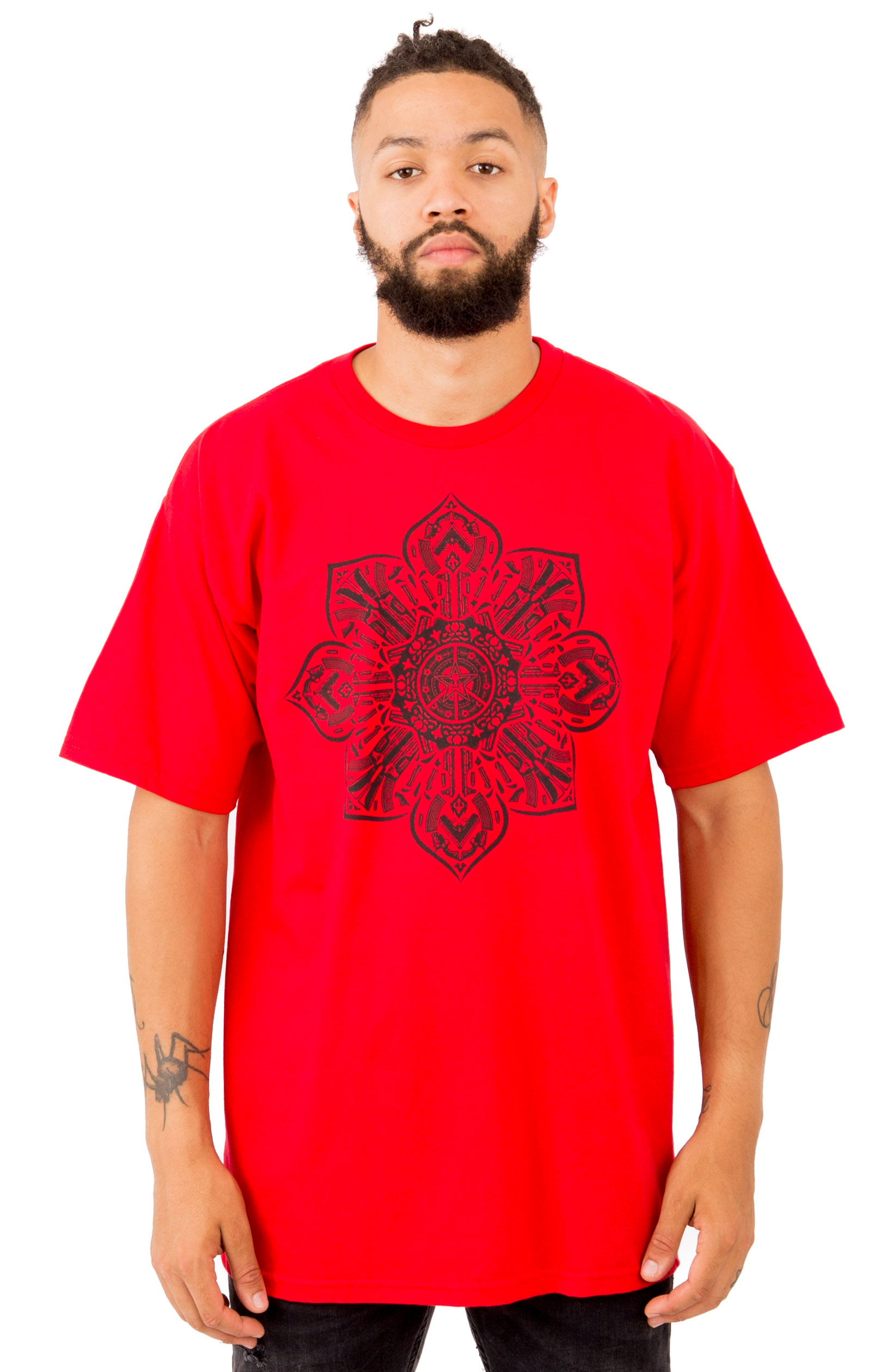 Gun Mandala T-Shirt - Red