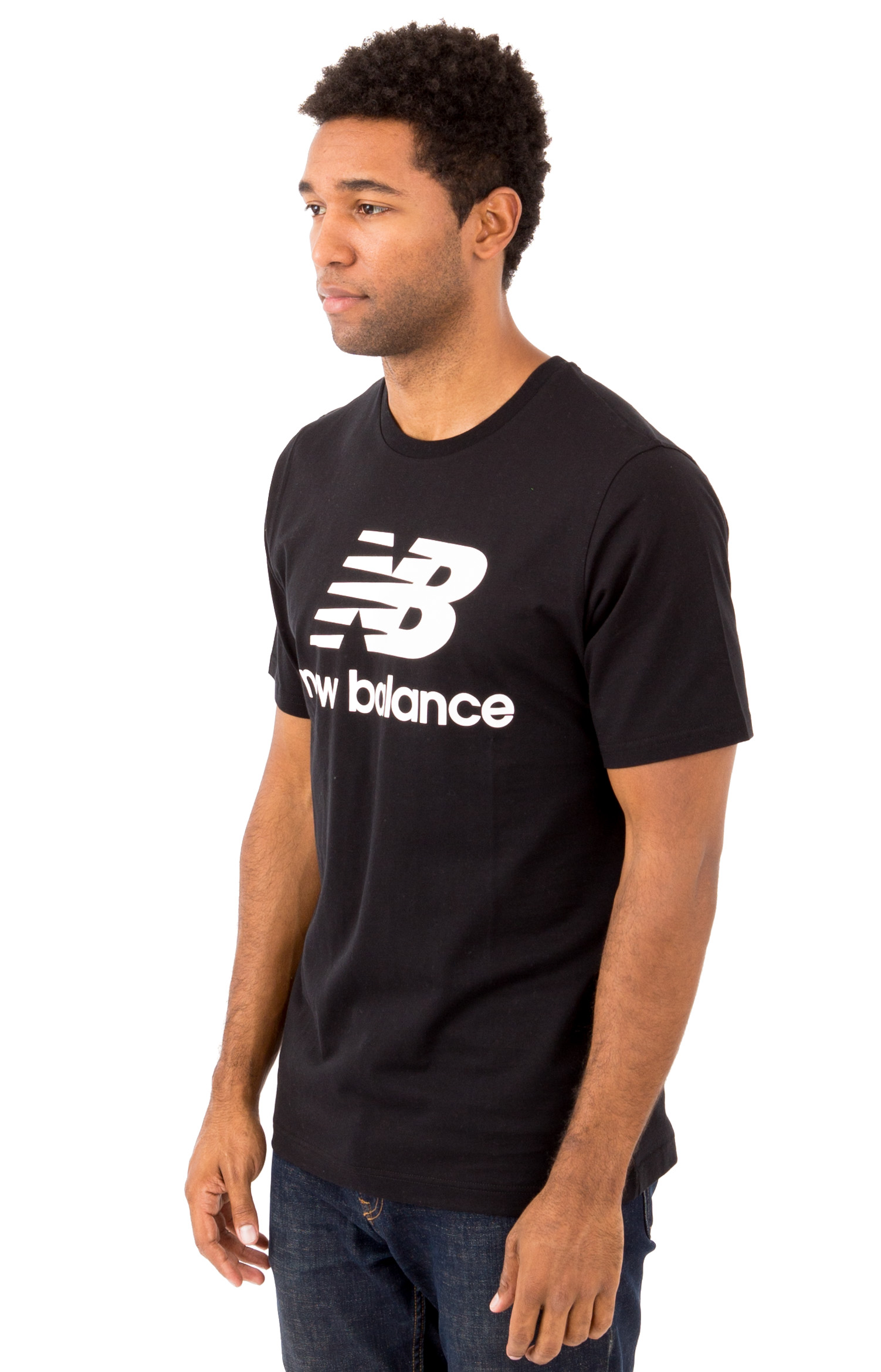 Essential Stacked Logo T-Shirt - Black 2