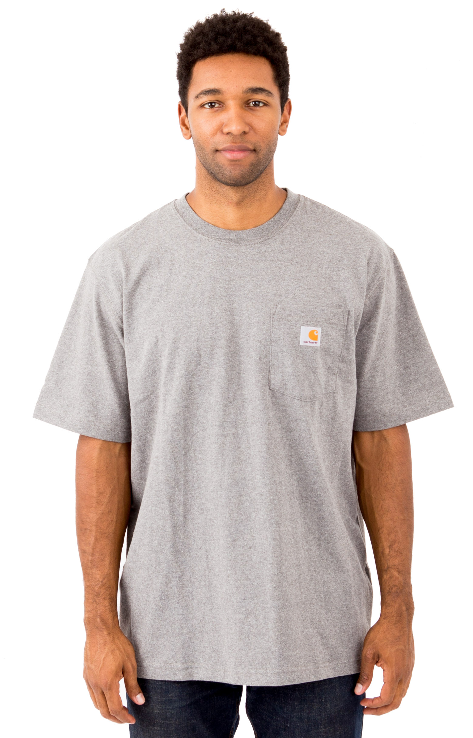 Carhartt, (K87) Workwear Pocket T-Shirt - Granite Heather