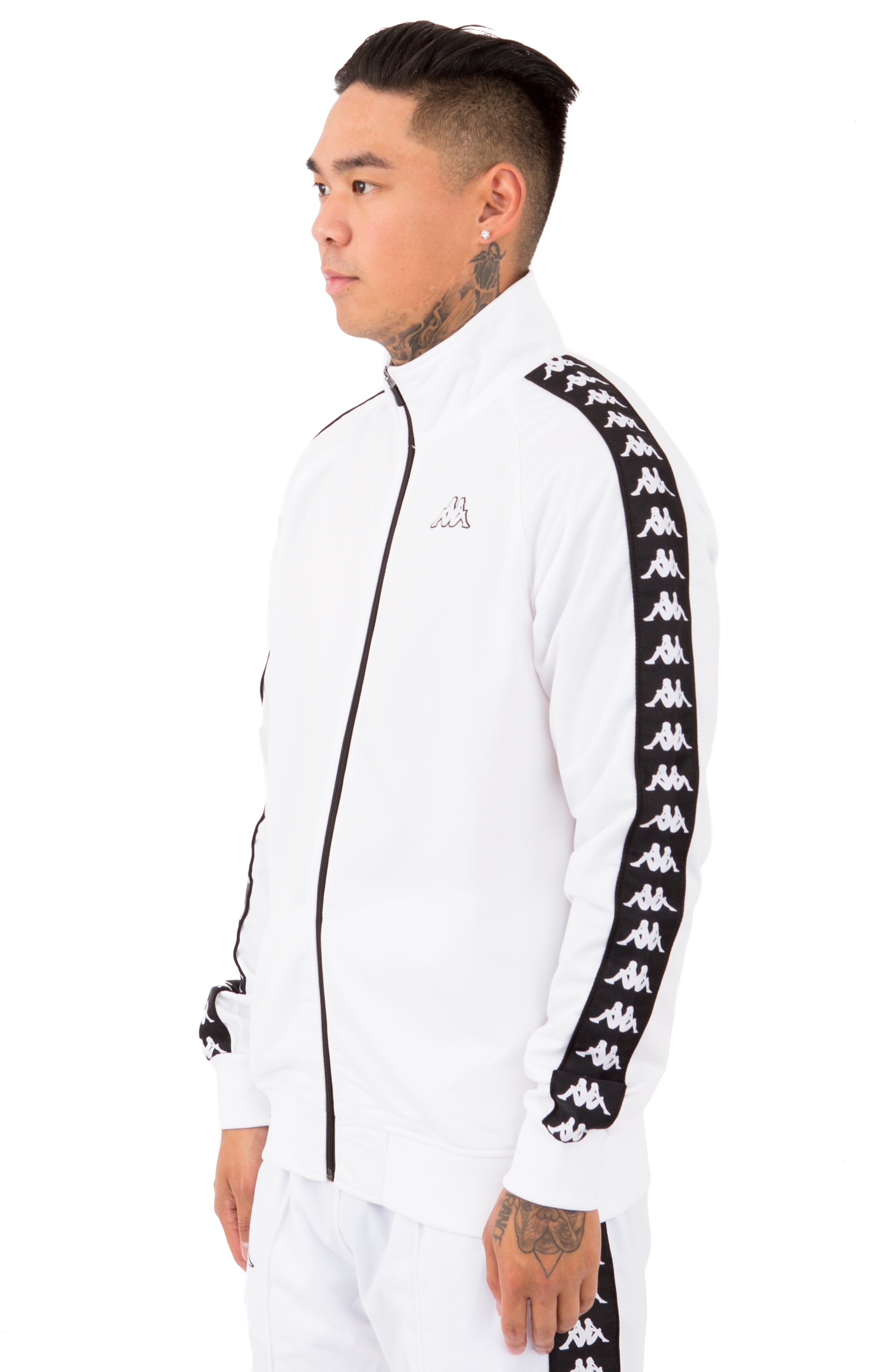 Kappa, 222 Banda Anniston Slim Jacket - White/Black