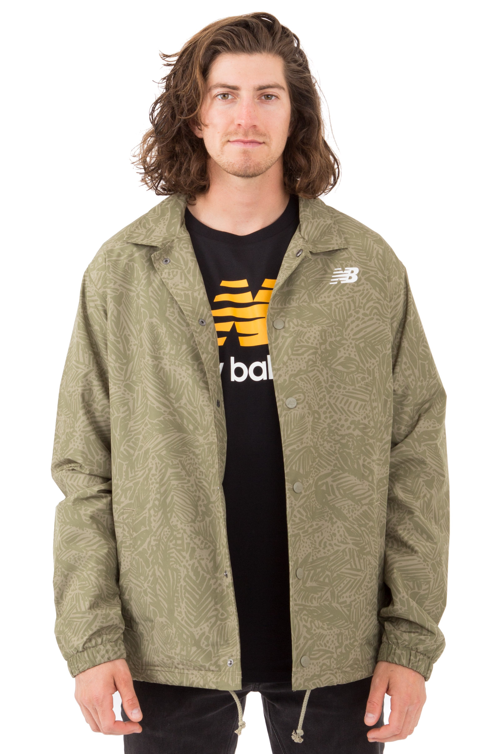 Classic Printed Coaches Jacket - Covert Green