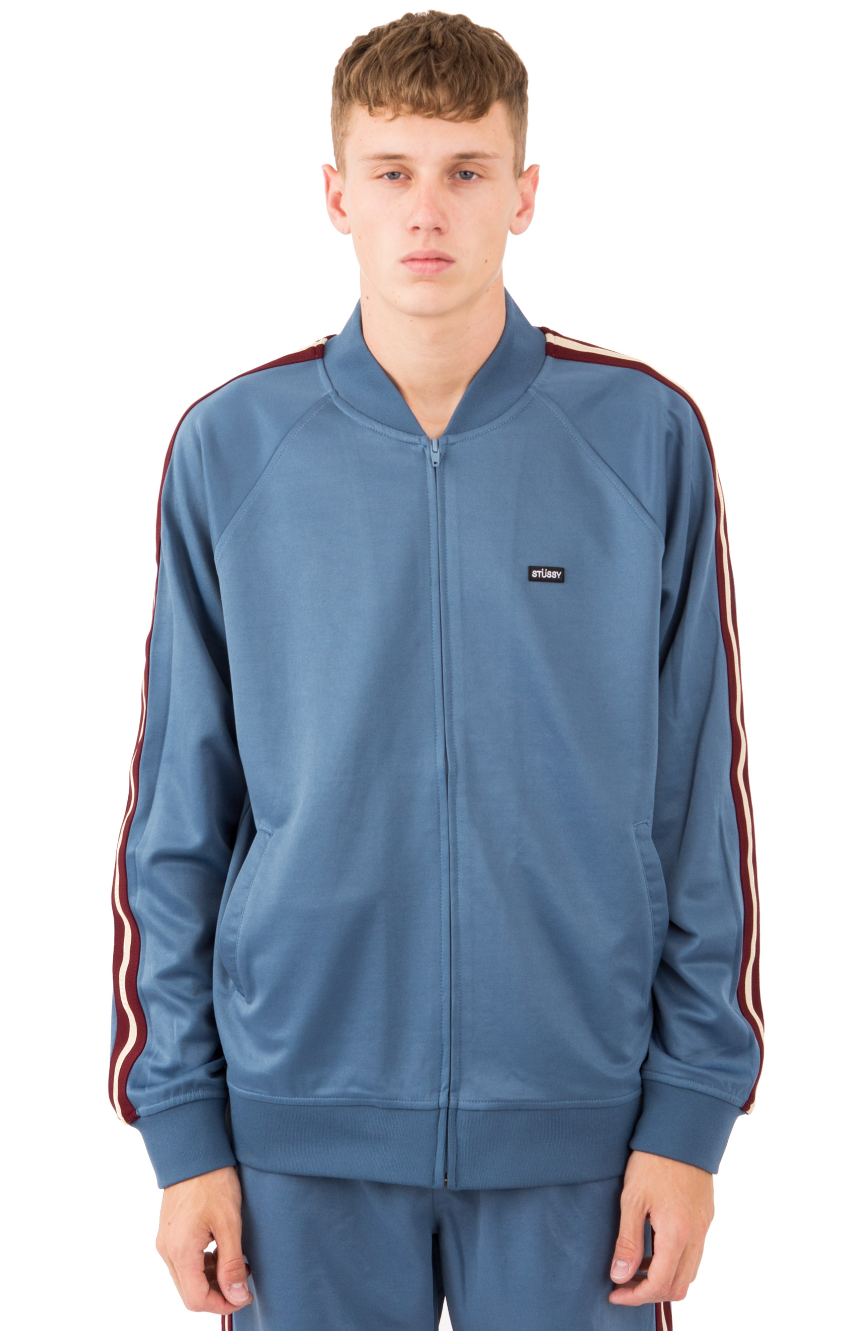 Poly Track Jacket - Steel