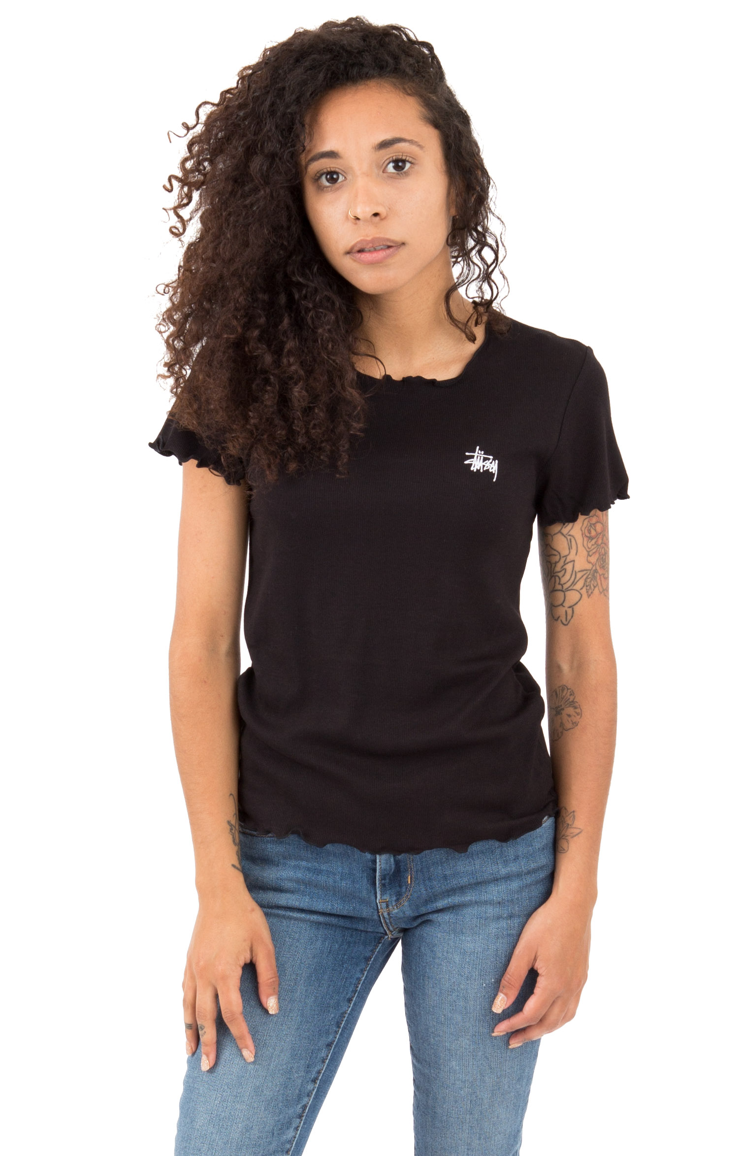 Pepper Lettuce Edge T-Shirt - Black