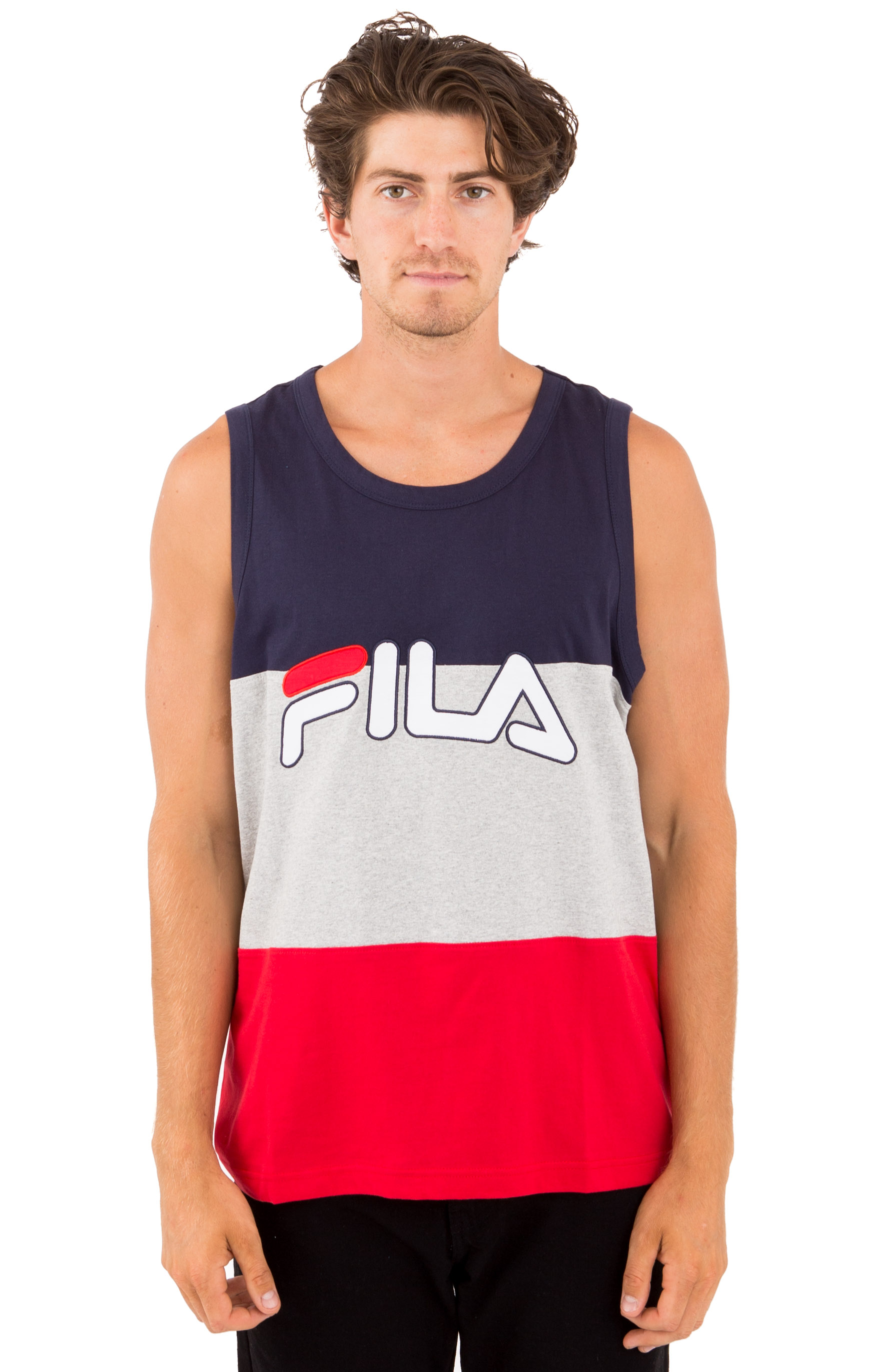 Tai Logo Tank Top - Peacoat/Grey/Red