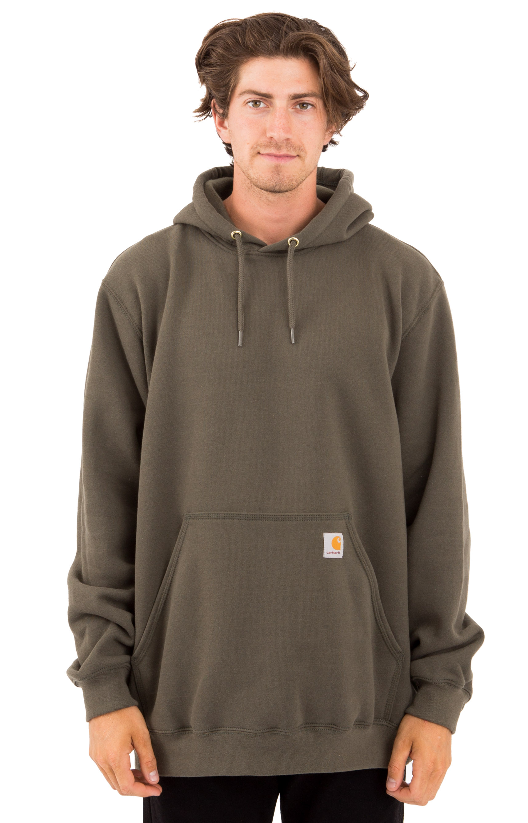 (K121) Midweight Pullover Hoodie - Moss