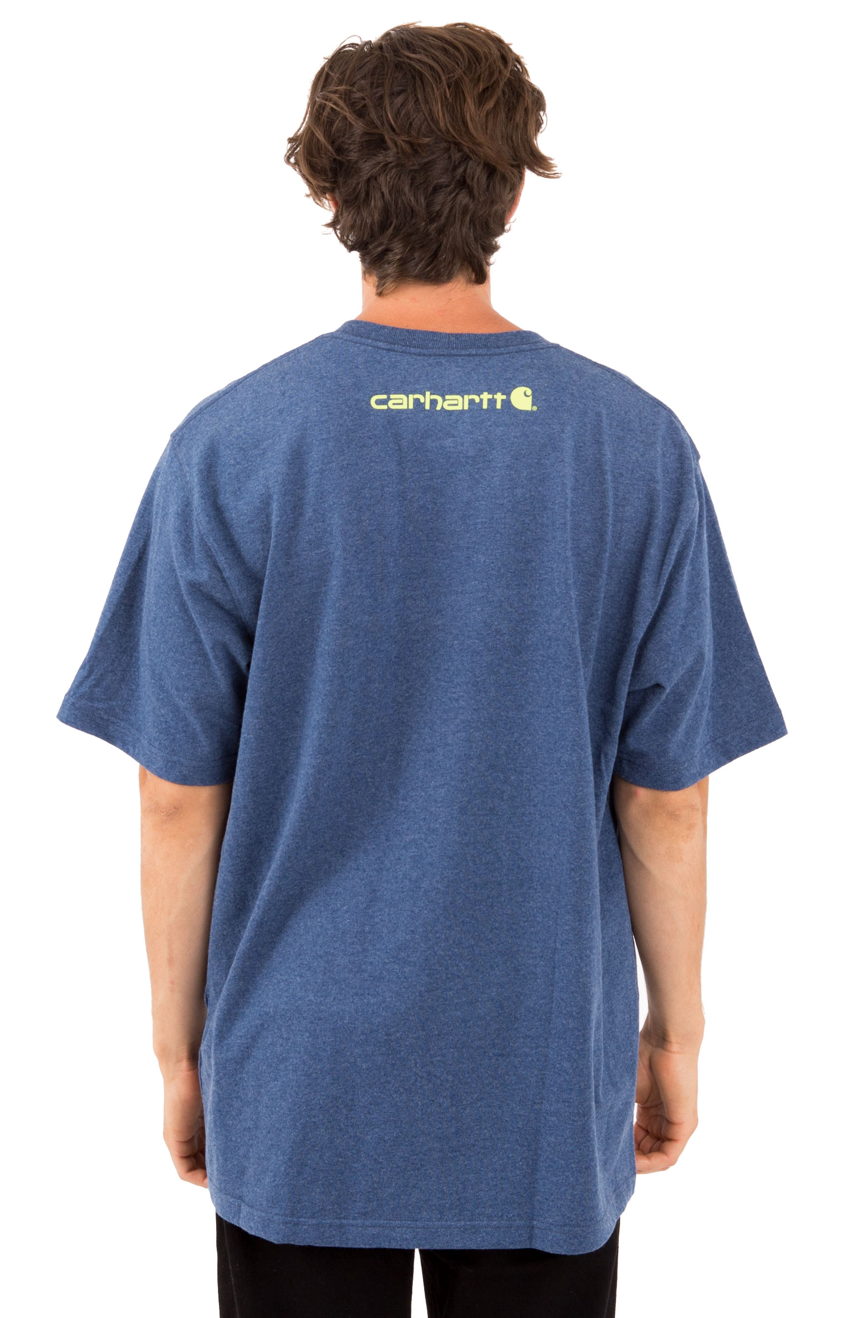 (K195) S/S Signature Logo T-Shirt - Dark Cobalt Blue Heather 3