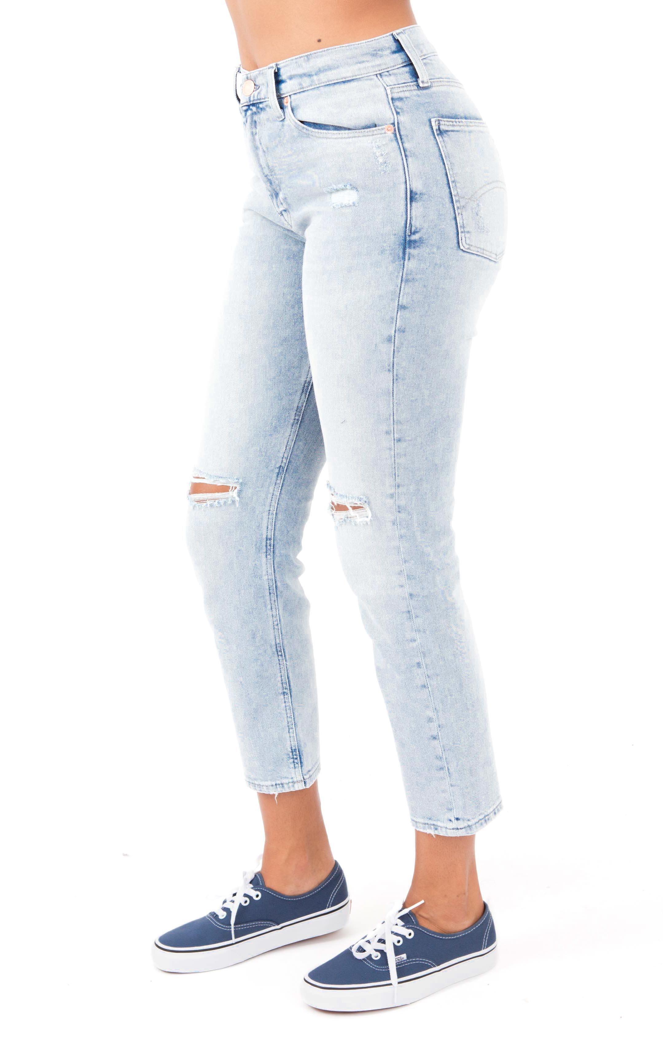 (DW04747) 1991 High Rise Straight Fit Jean - Flanders Light Blue