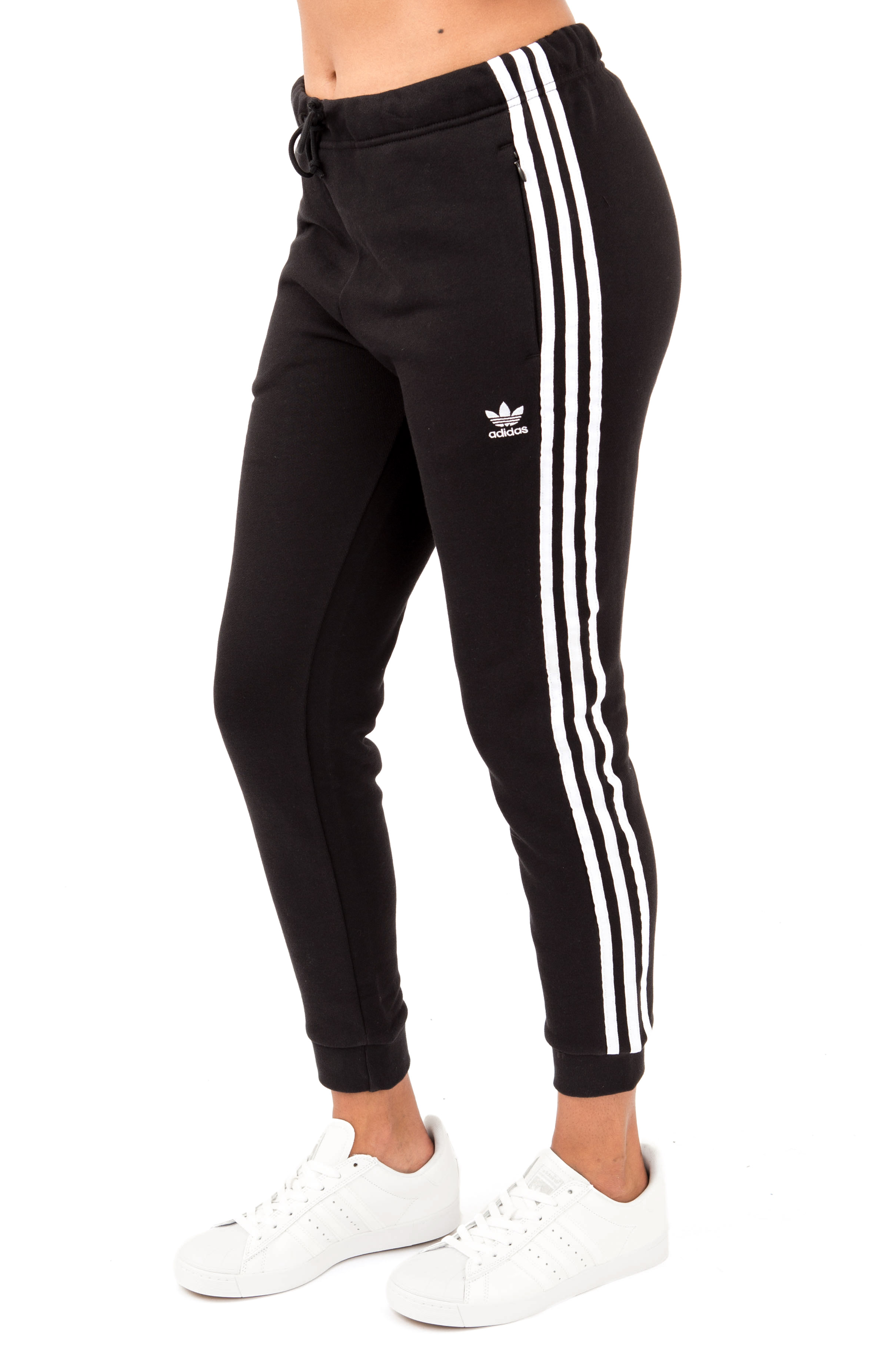 (DH3123) Regular Cuffed Track Pants - Black