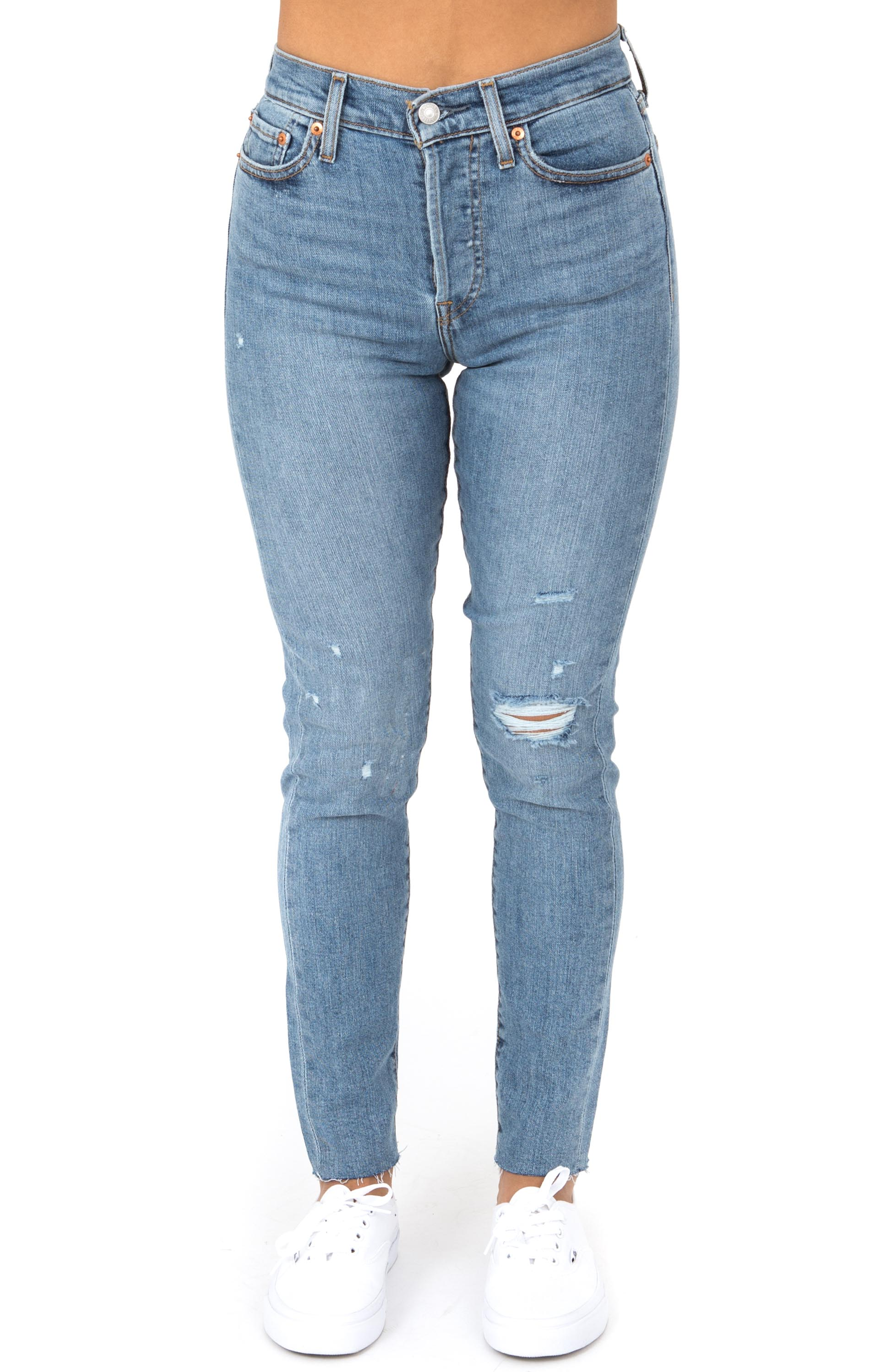 Wedgie Skinny Jeans Blue E