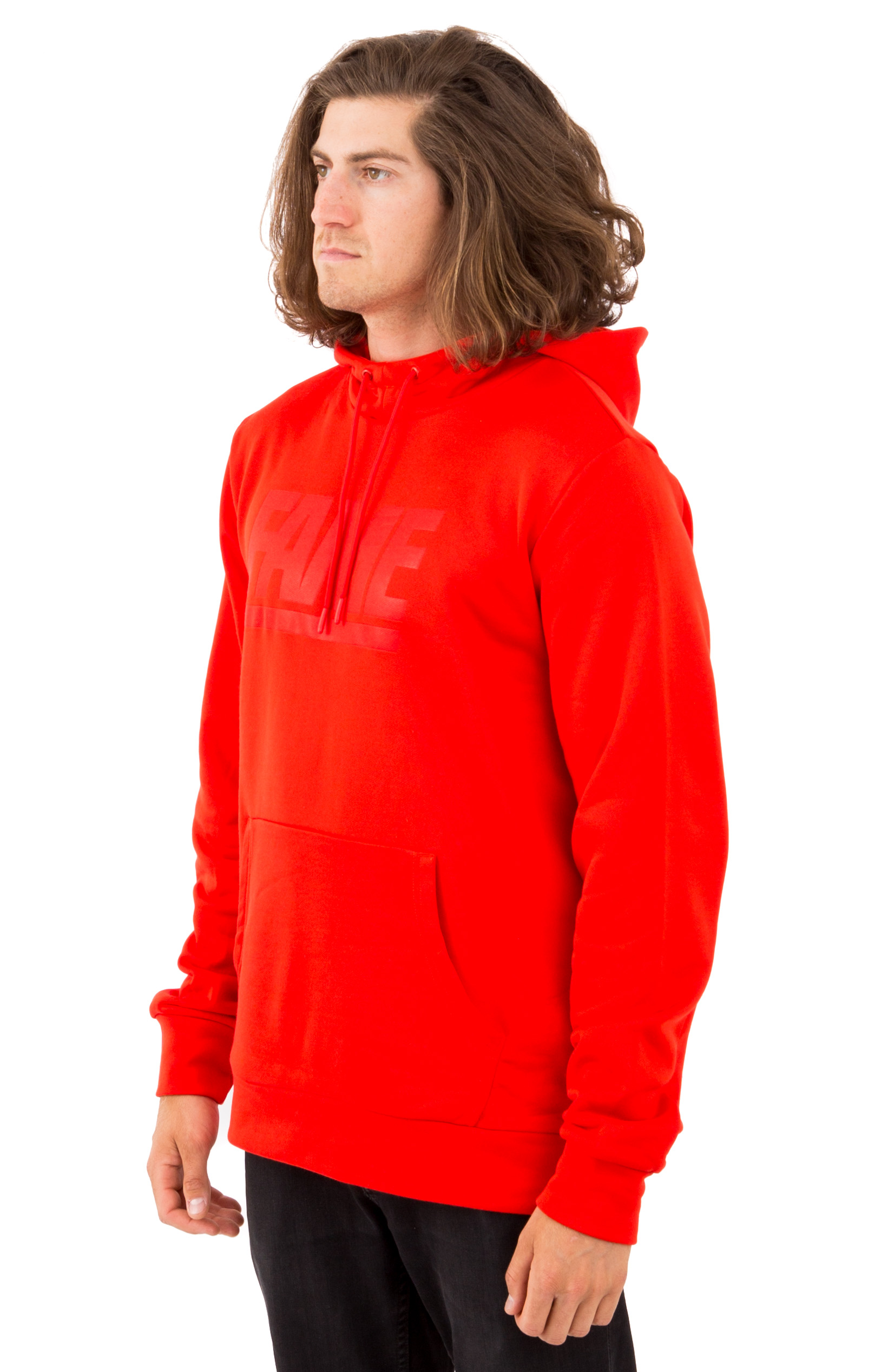 Fame Block Press Pullover Hoodie - Red 2
