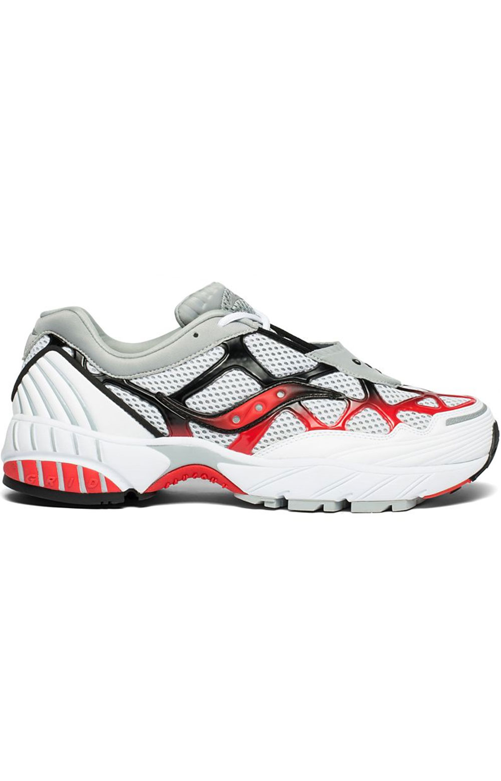 (S70466-2) Grid Web Shoe - White/Grey/Red