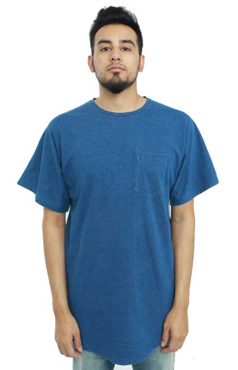 Index Harris Knitted T-Shirt - Medium Indigo
