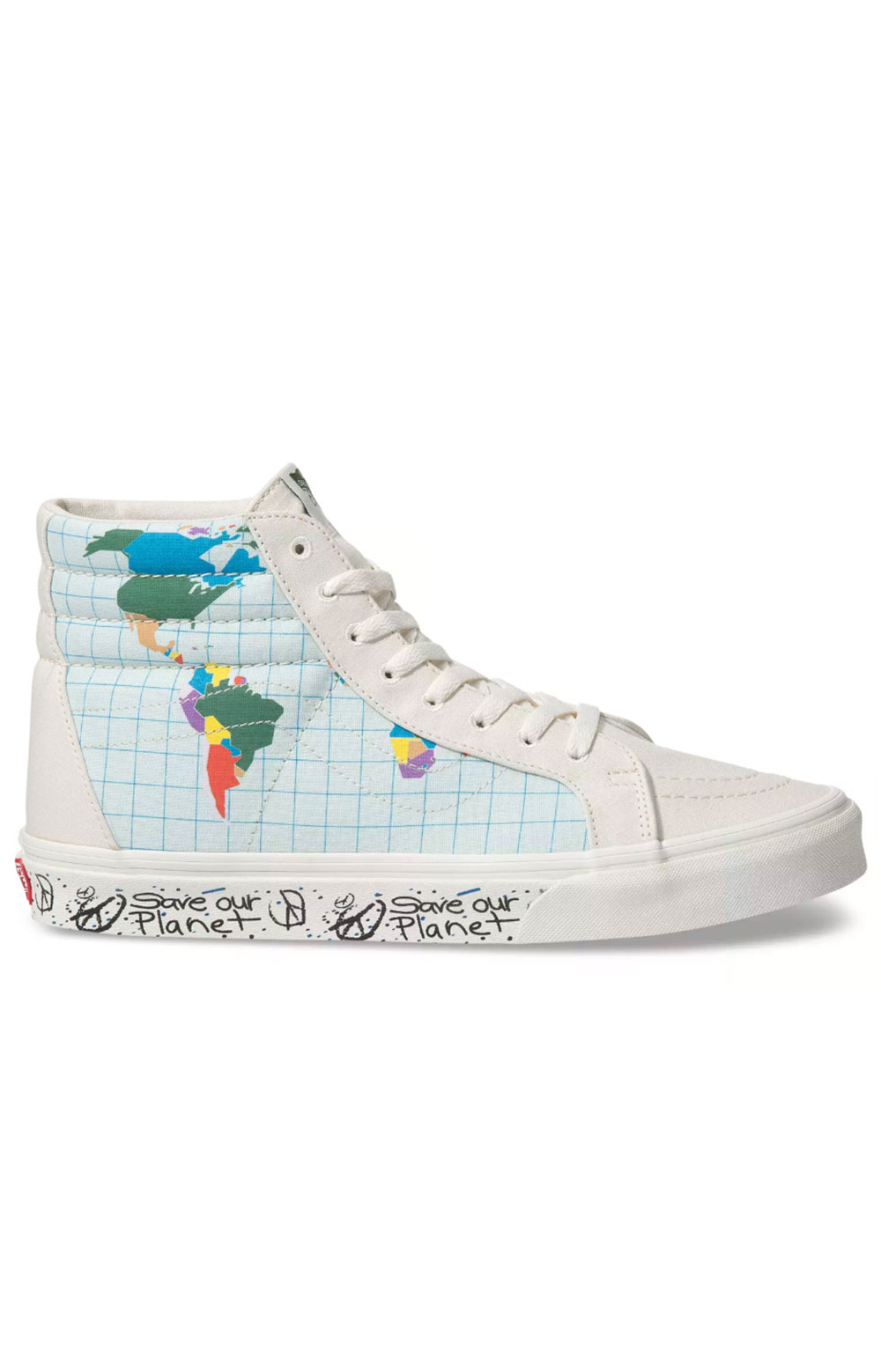 (BV4T2V) Save Our Planet Sk8-Hi Shoe - Classic White/Multi