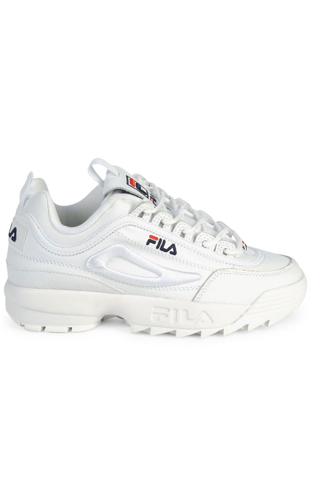 Disruptor II 3D Embroider Shoes - White/Navy/Red