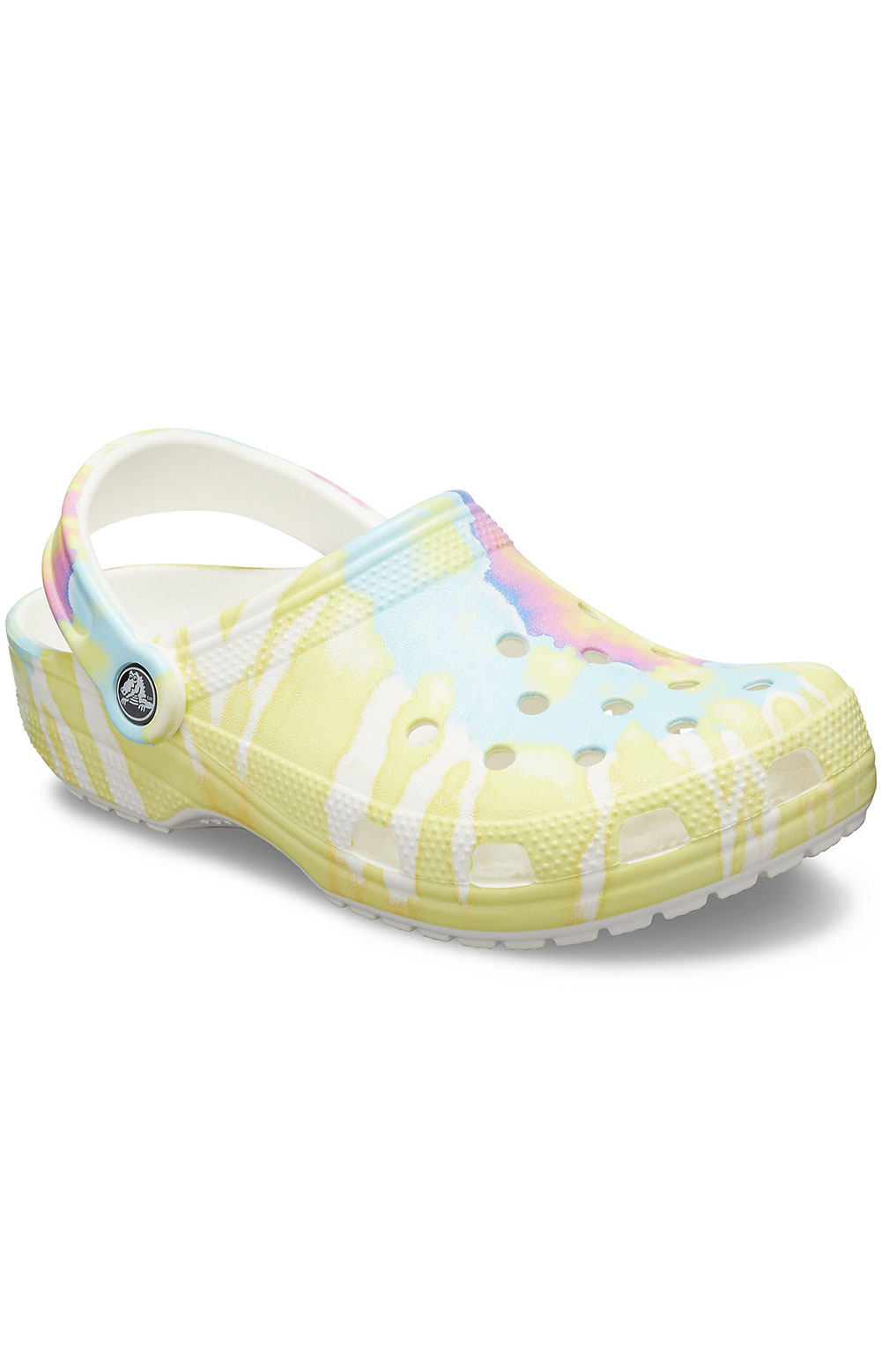 Classic Tie-Dye Graphic Clogs - White/Multi