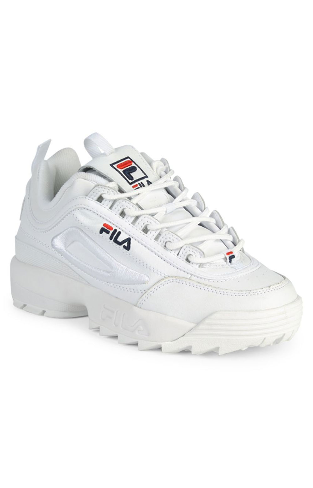 Disruptor II 3D Embroider Shoes - White/Navy/Red 2