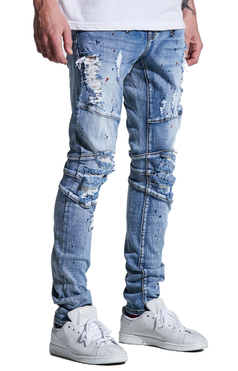 (CRYSP218-230) Montana Denim Jeans - Mid Blue