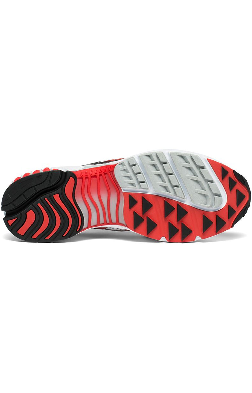 (S70466-2) Grid Web Shoe - White/Grey/Red 5
