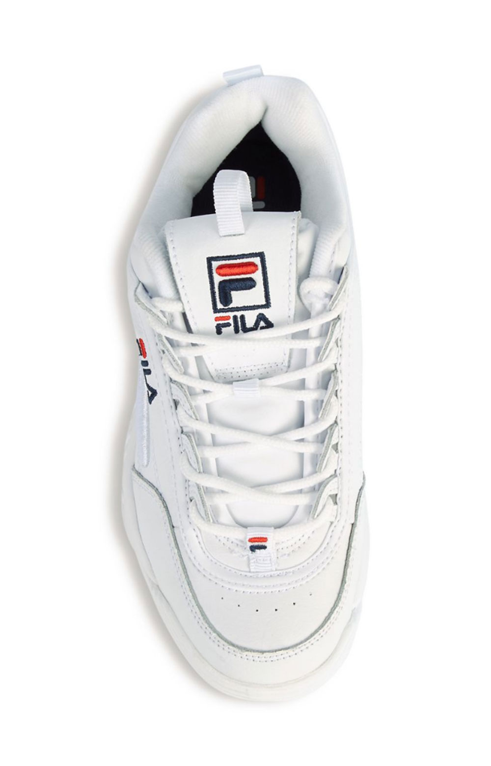 Disruptor II 3D Embroider Shoes - White/Navy/Red 3