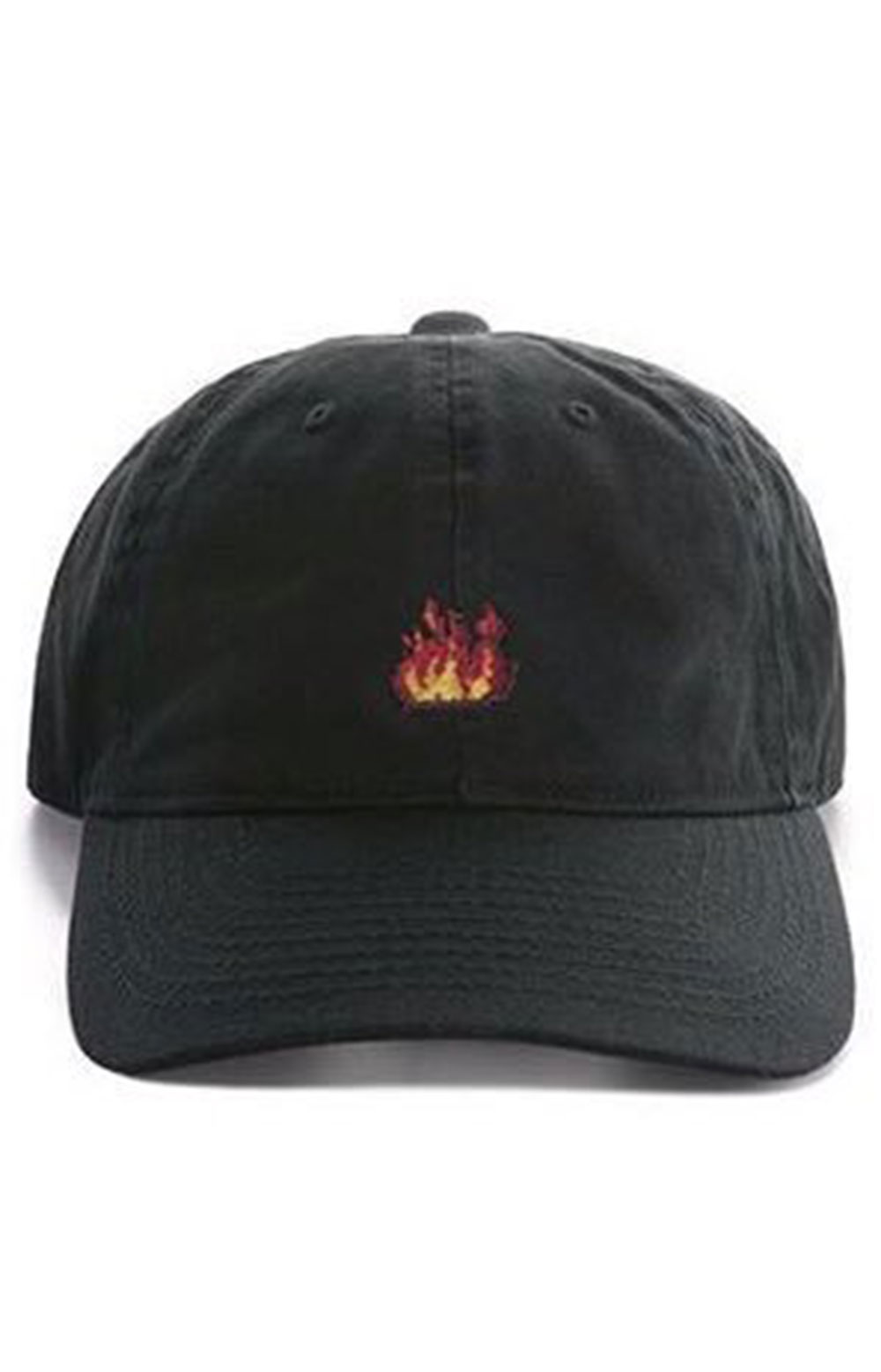 Flames Dad Hat - Black