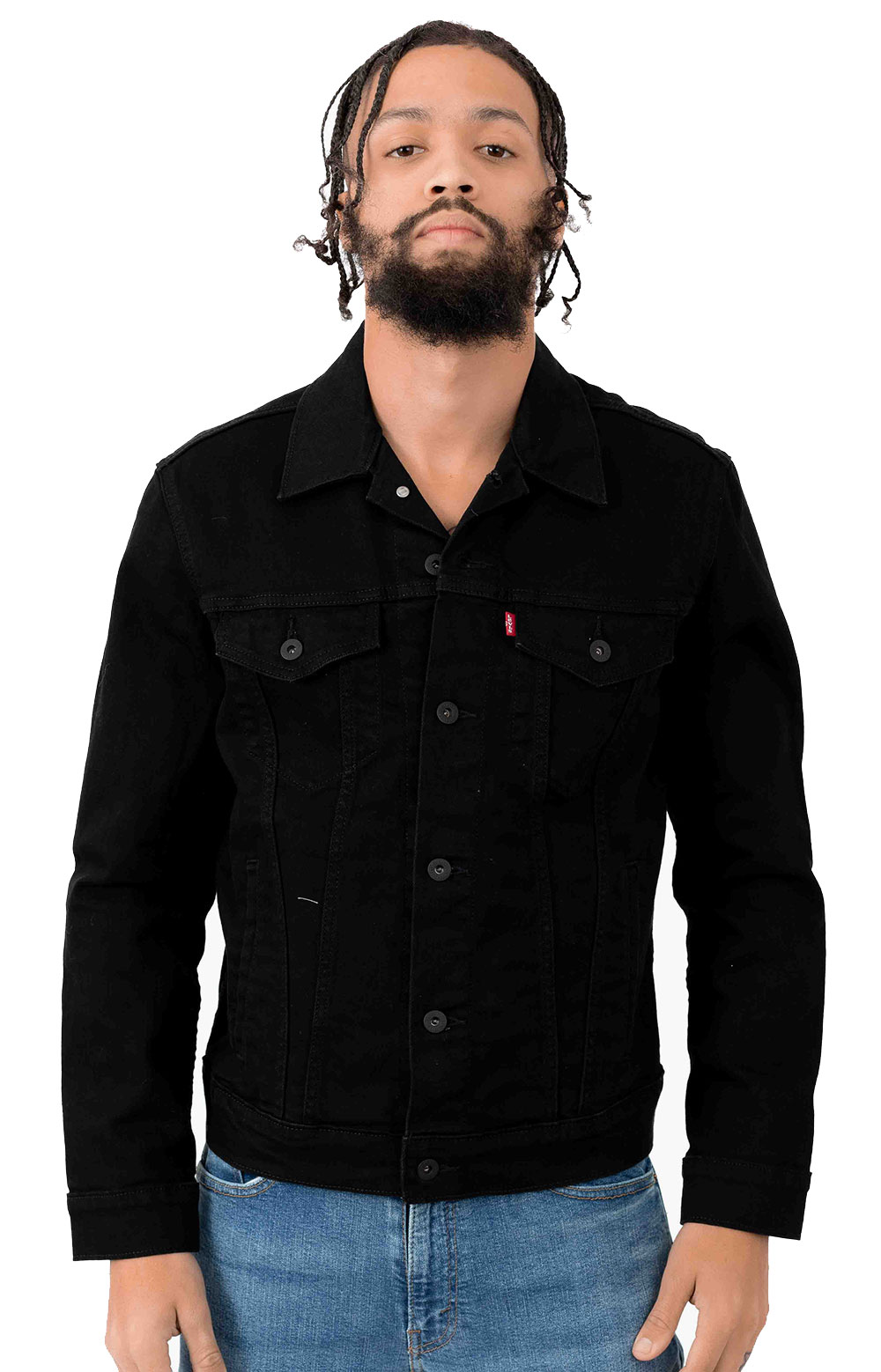 The Trucker Jacket - Lamar Black