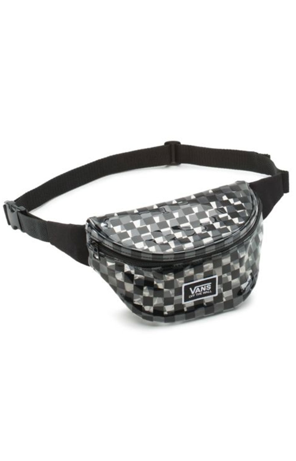 Clear Cut Fanny Pack - Black Checker