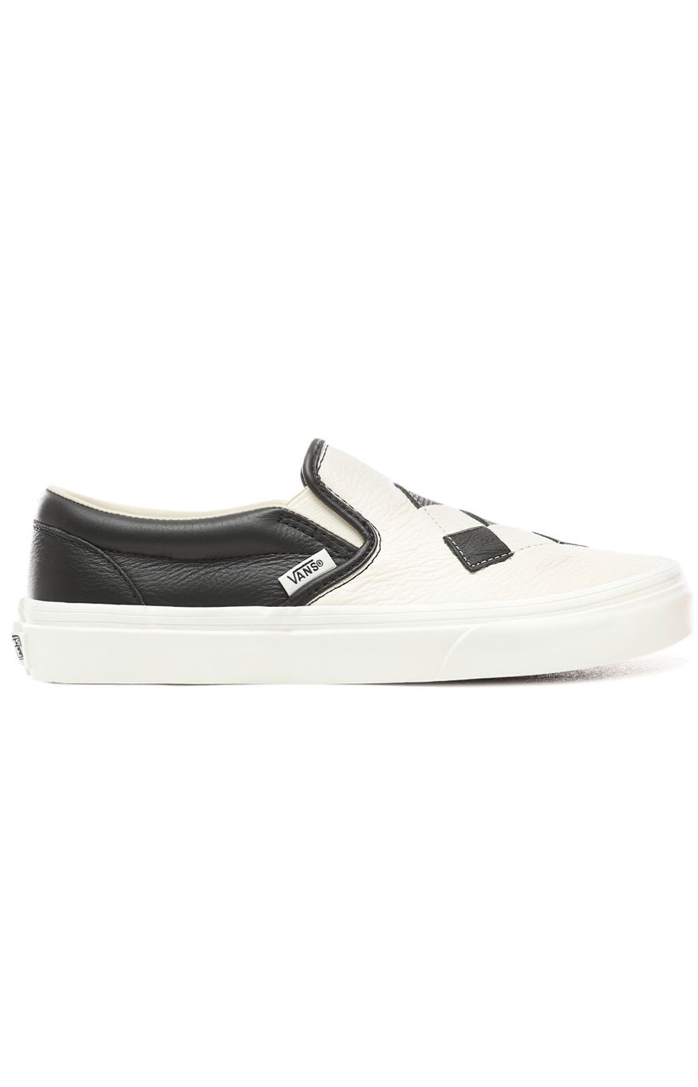 (8F7VMW) Woven Leather Classic Slip-On Shoe - Checkerboard