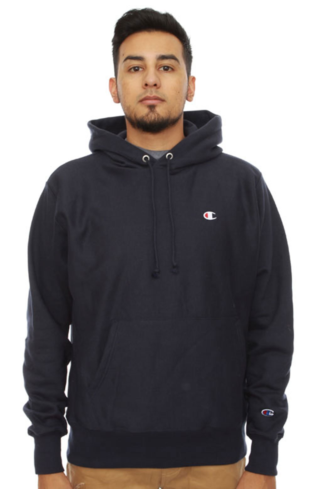 Champion, Reverse Weave Pullover Hoodie - Navy