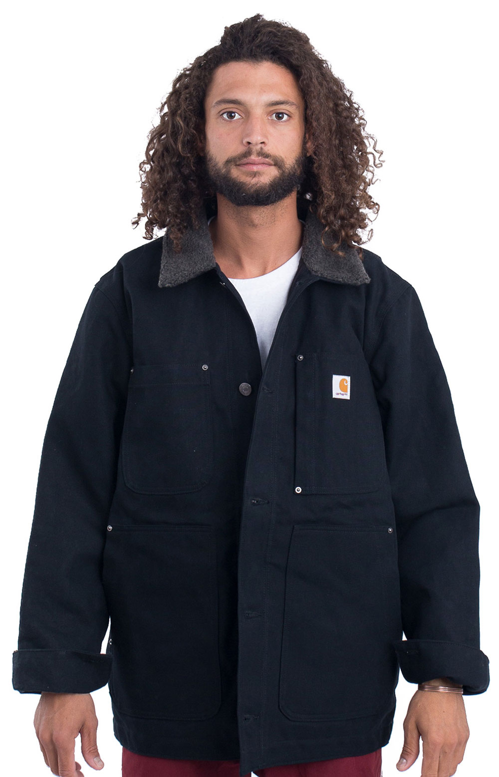 (102707) Full Swing Chore Coat - Black