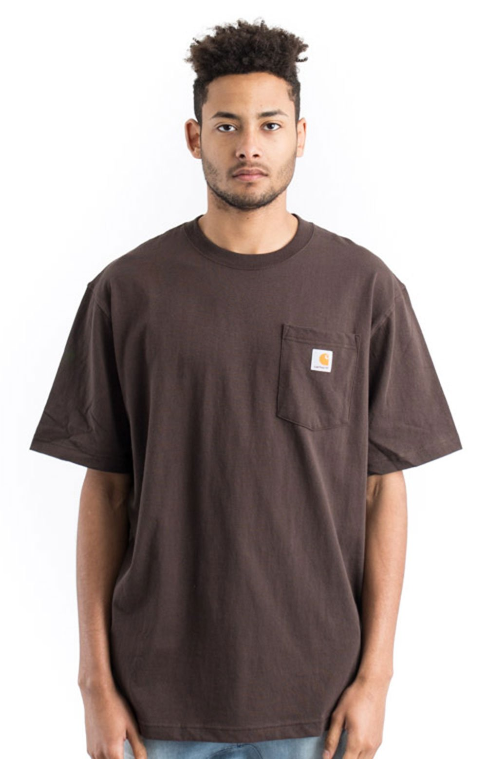 (K87) Workwear Pocket T-Shirt - Dark Brown