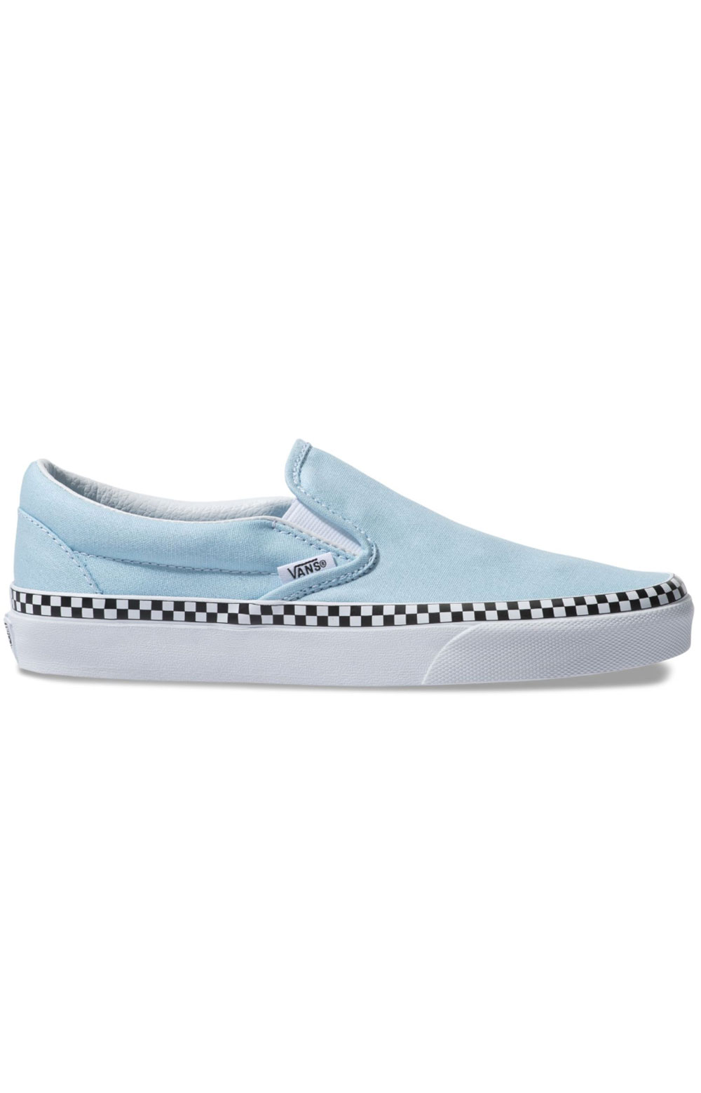 (8F7VLS) Check Foxing Classic Slip-On Shoe - Cool Blue