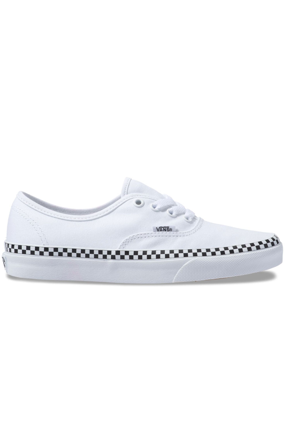 (8EMVJU) Check Foxing Authentic Shoe - True White