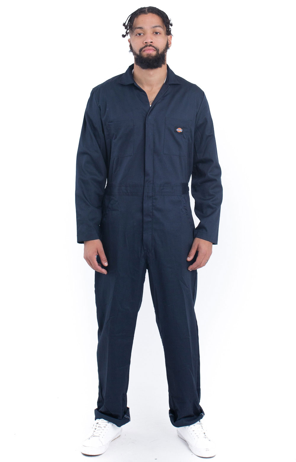 Basic Cotton Coveralls - Dark Navy