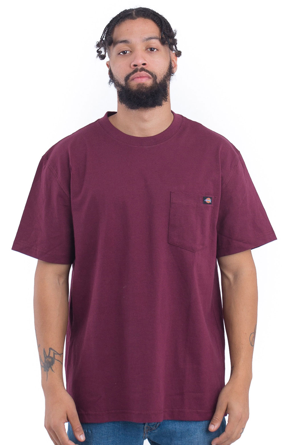 (WS450BY) S/S Heavyweight T-Shirt - Burgundy