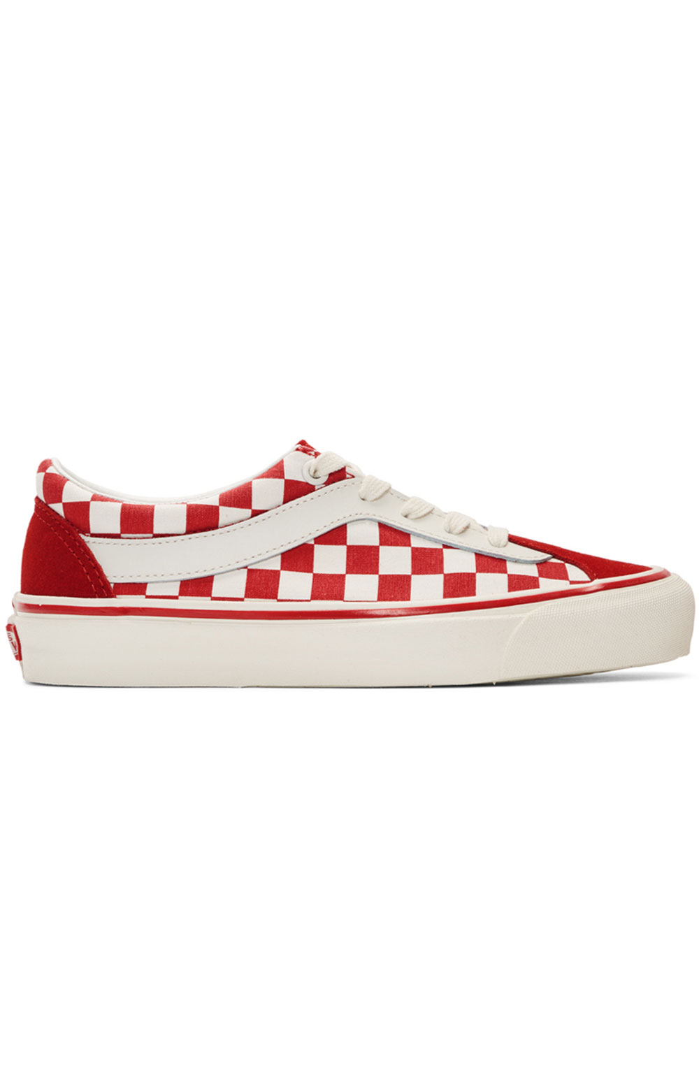(WLPT1E) Checkerboard Bold Ni Shoe - Red/White