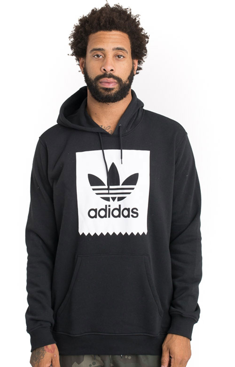 Solid BB Pullover Hoodie - Black/White