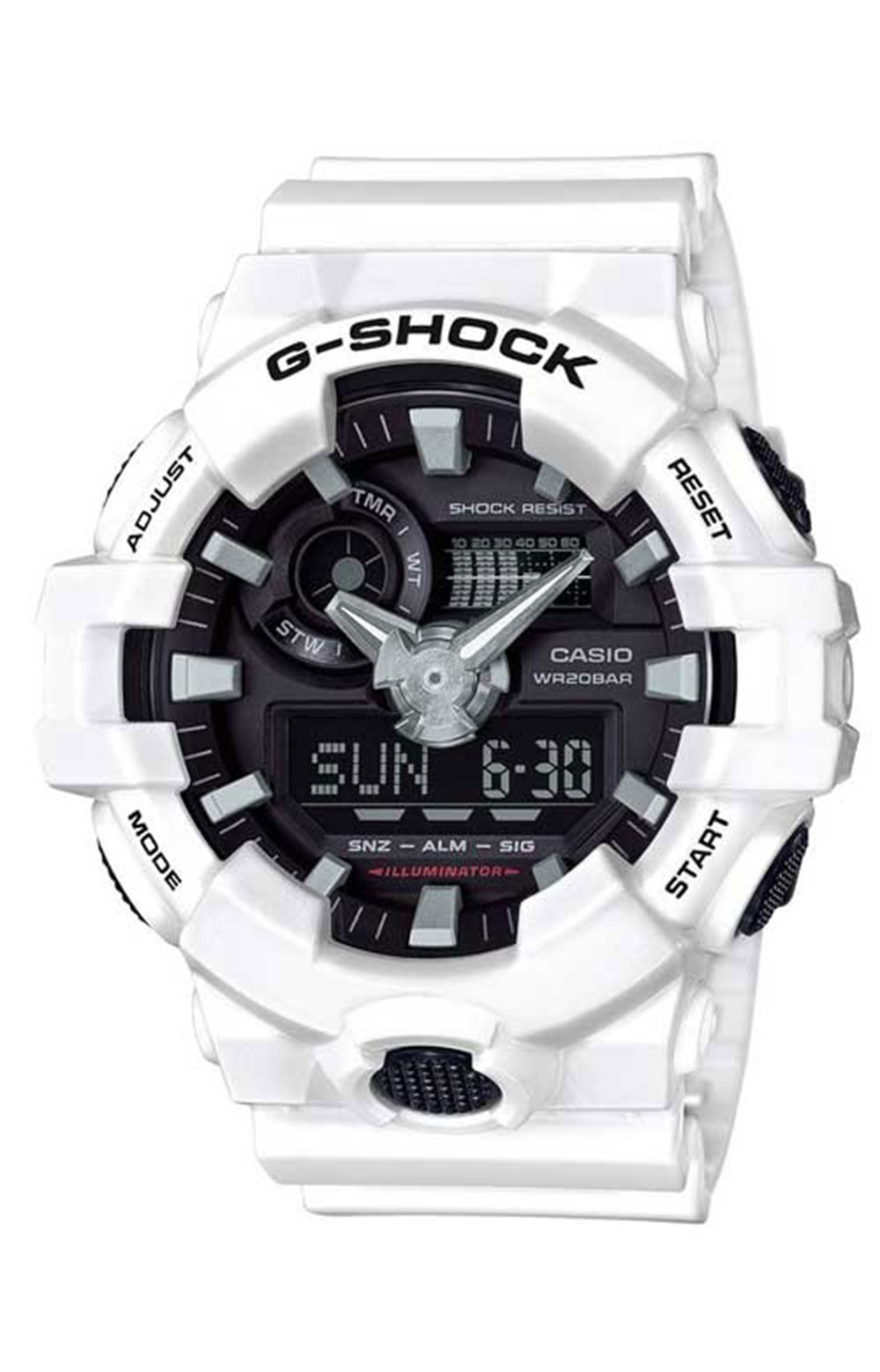 GA-700-7A Analog Digital Watch - White