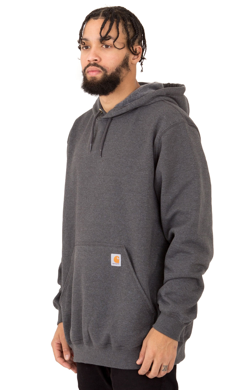 (K121) Midweight Pullover Hoodie - Carbon Heather  3