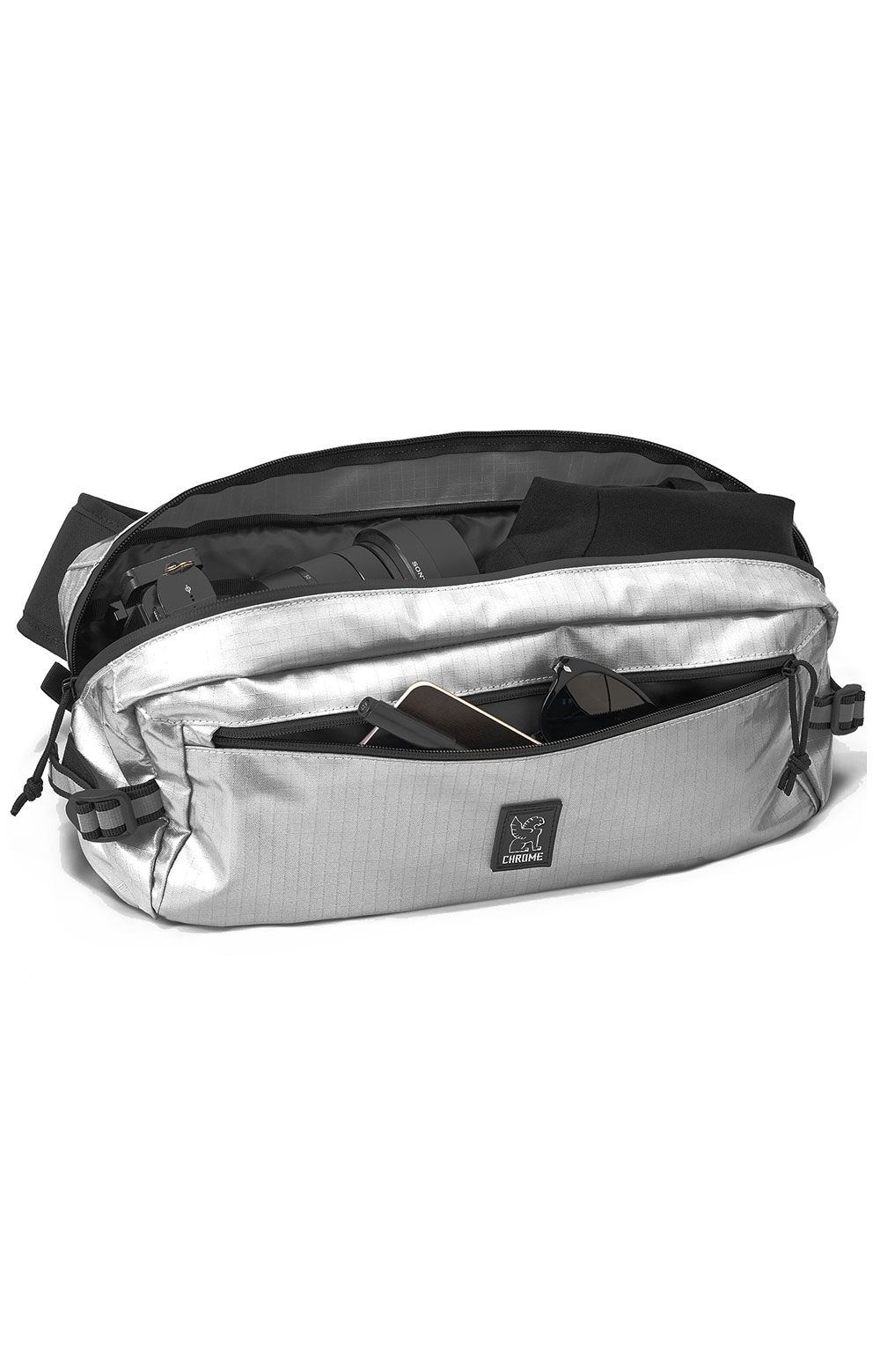 Kadet Nylon Bag - Chrome/Aluminum 3