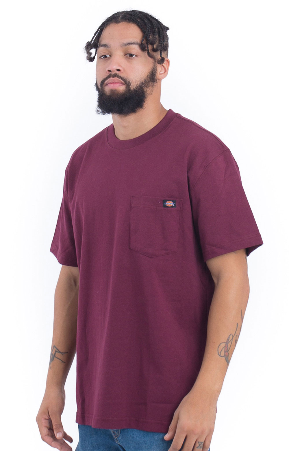 (WS450BY) S/S Heavyweight T-Shirt - Burgundy 2