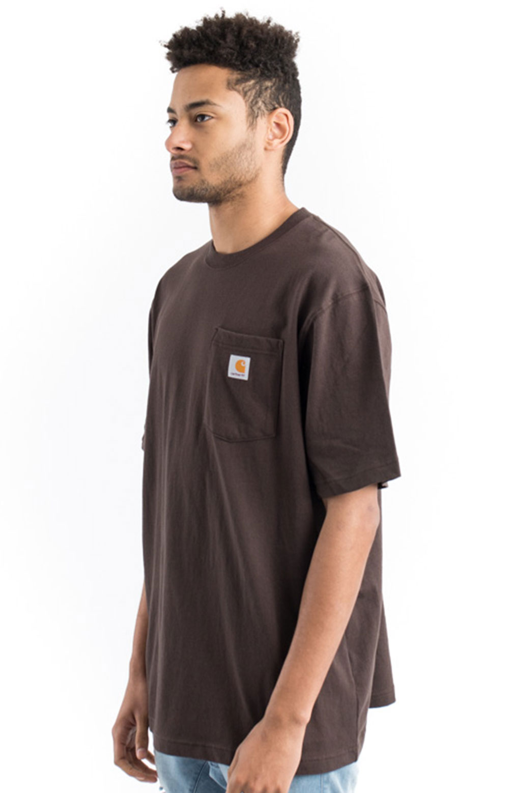 (K87) Workwear Pocket T-Shirt - Dark Brown 2