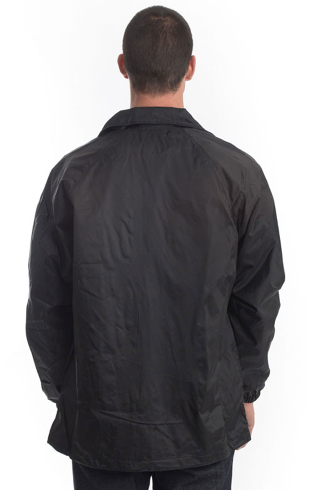 (76242BK) Snap Front Nylon Jacket - Black 3