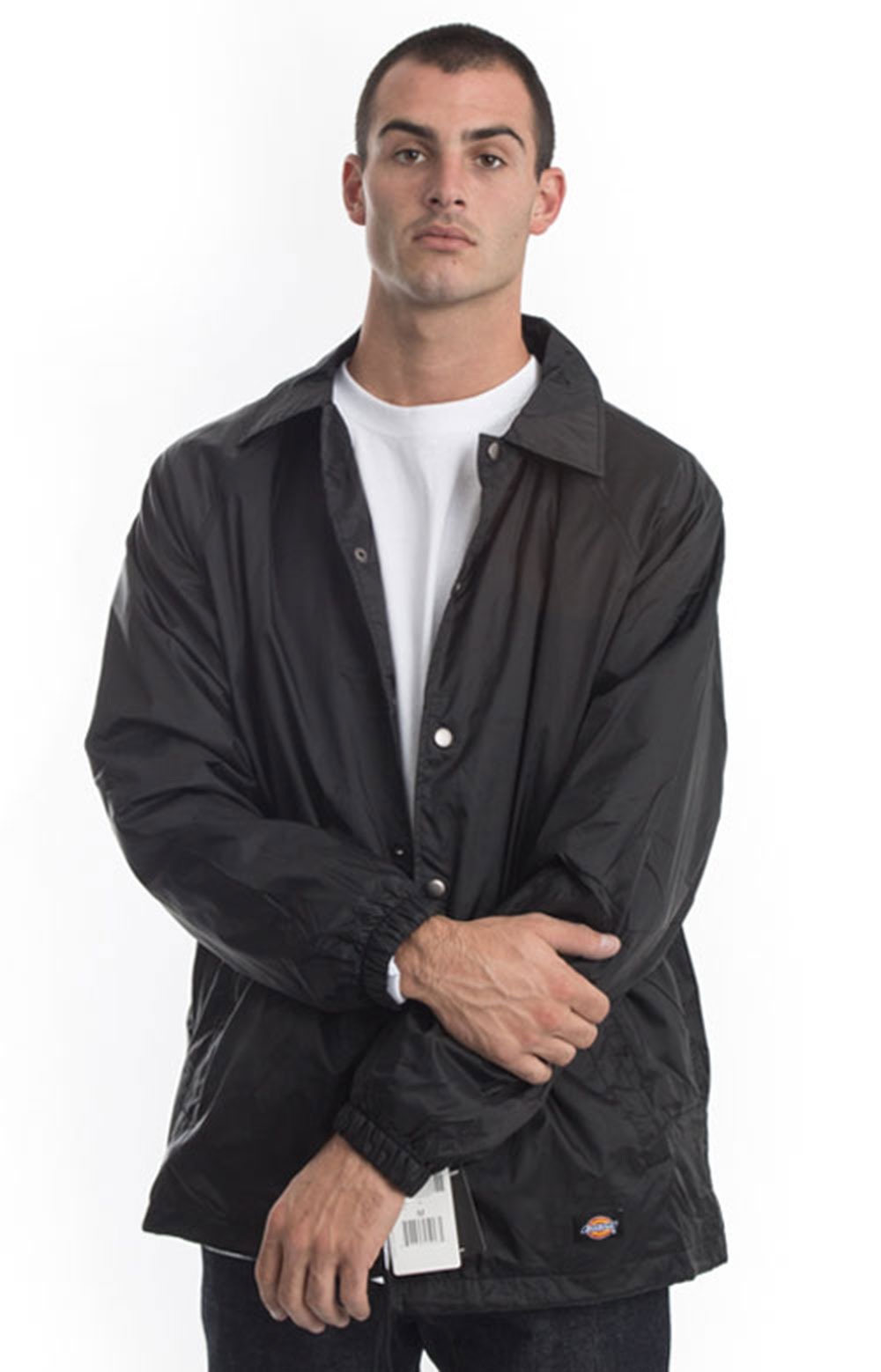 (76242BK) Snap Front Nylon Jacket - Black 4