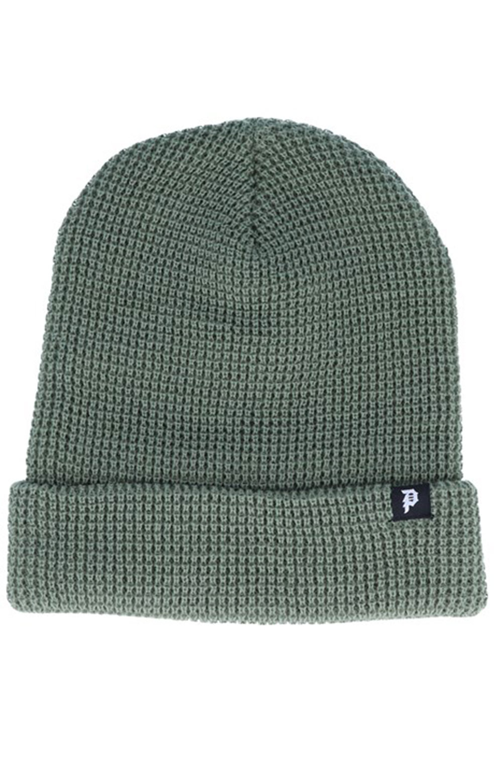 Dirty P Waffle Two-Fer Beanie - Olive