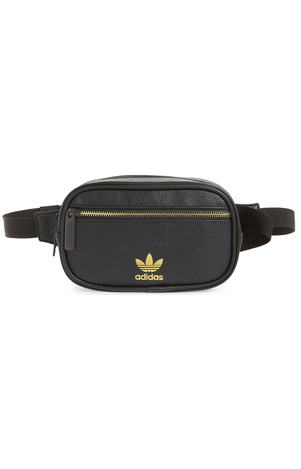 PU Leather Waist Pack - Black/Gold