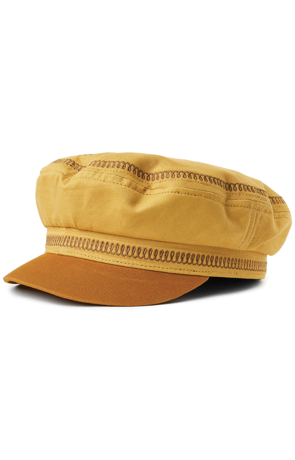 Fiddler Embroidered Cap - Nugget Gold