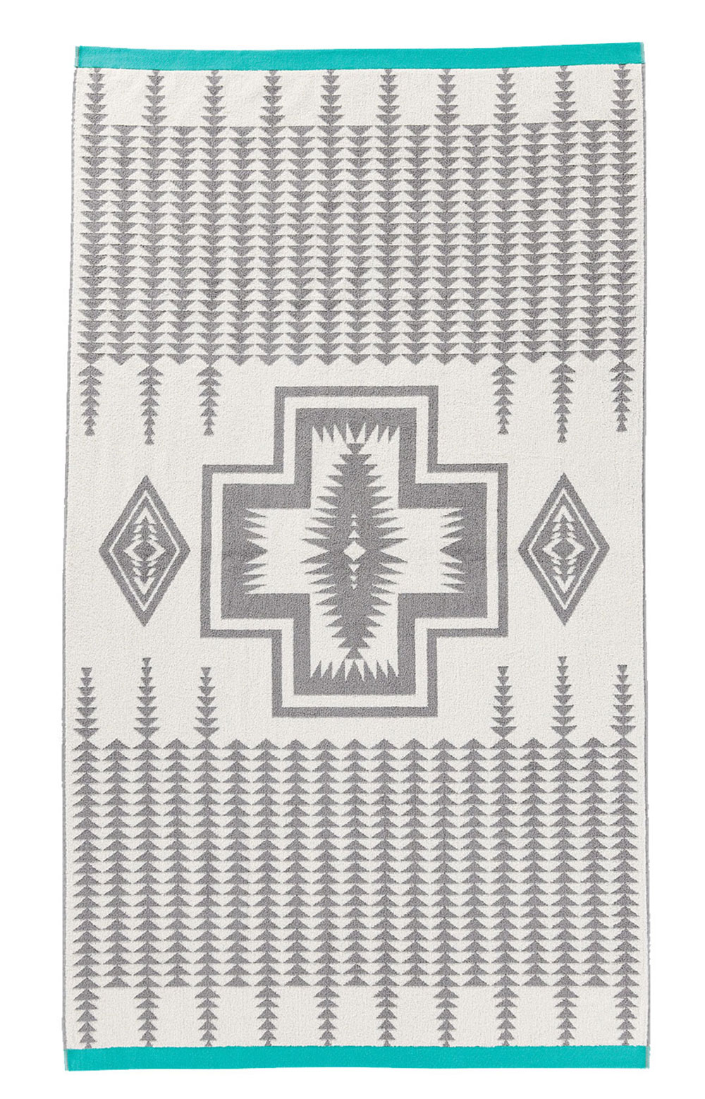 Oversized Jacquard Towel - Grey